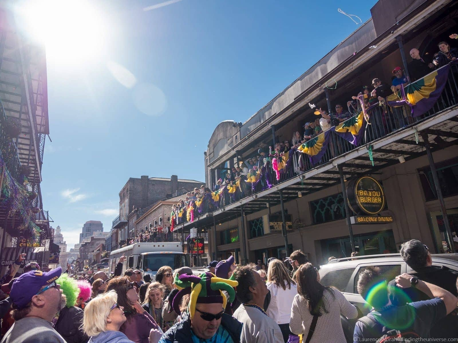 Bourbon Street Party New Orleans Mardi Gras_by_Laurence Norah