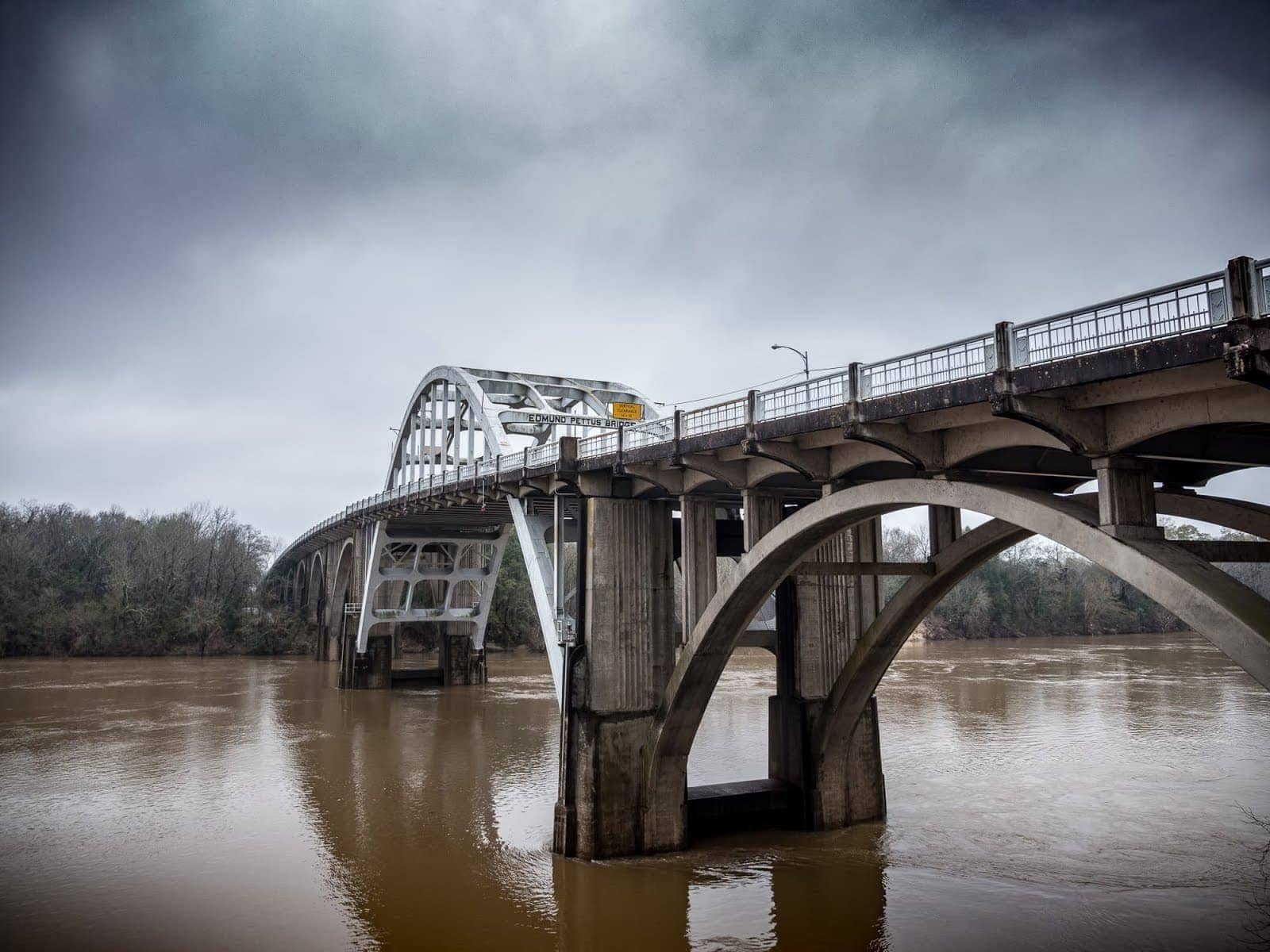 Edmund Pettus Bridge Selma Alabama by Laurence Norah
