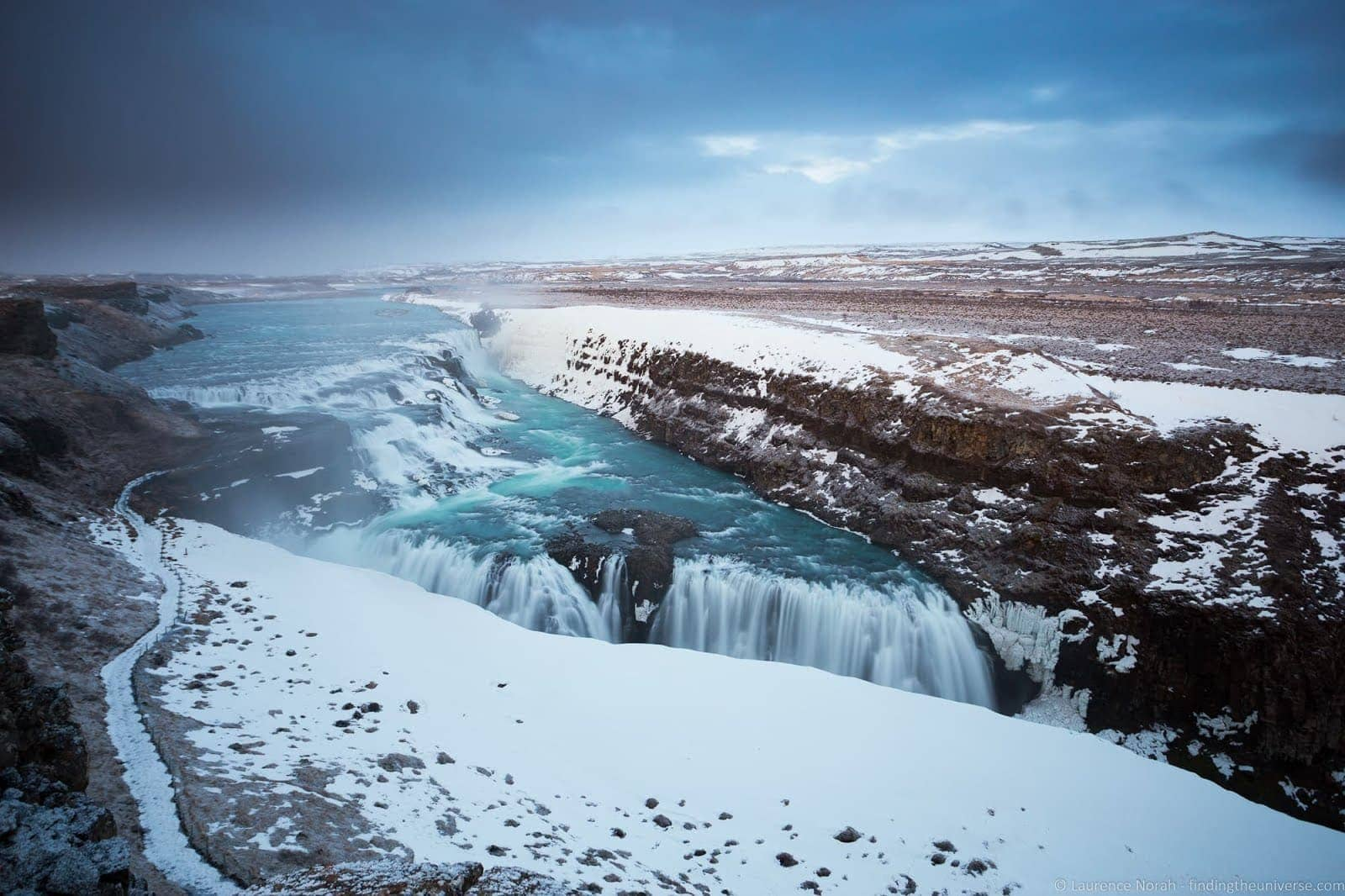 Gullfoss waterfall Iceland_by_Laurence Norah