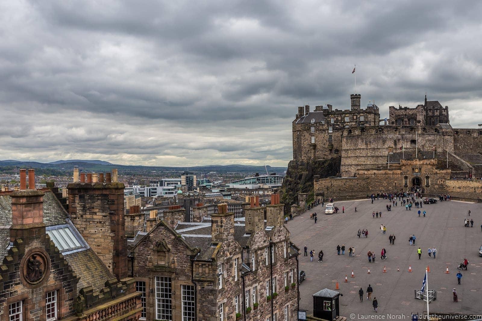 View from Camera Obscura Edinburgh