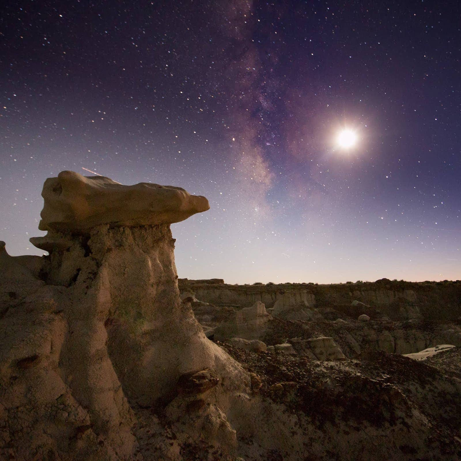 Moonlit Bisti Badlands New Mexico by Laurence Norah