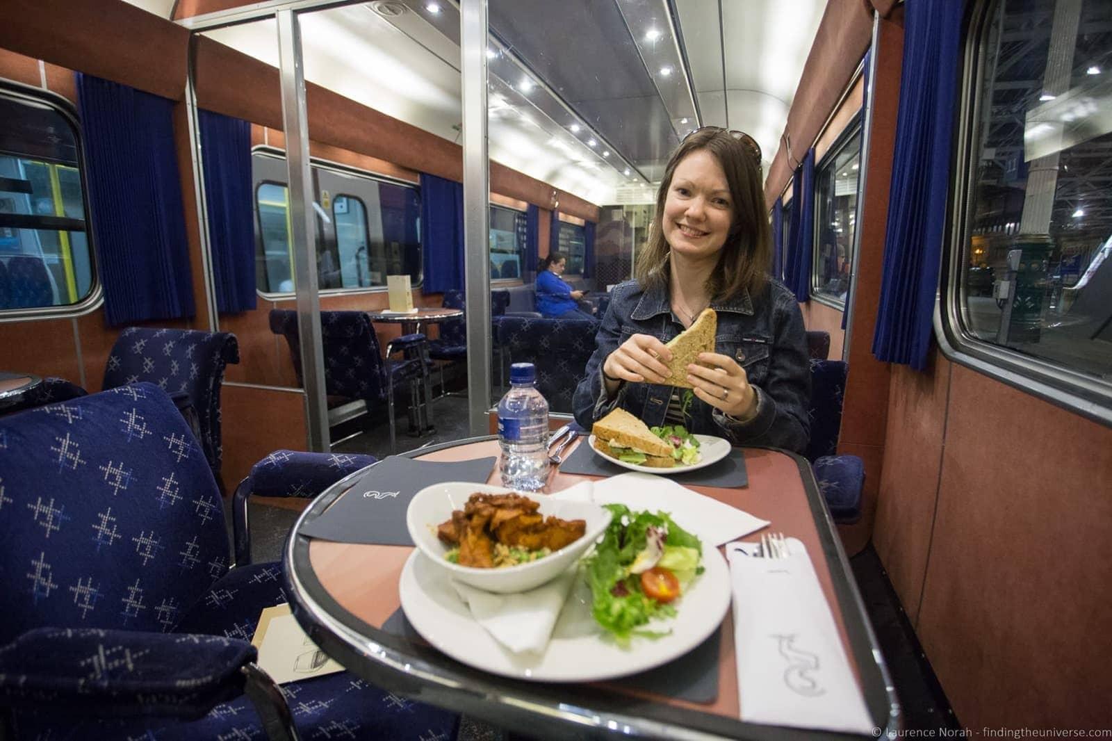 Caledonian Sleeper Dinner Lounge Car