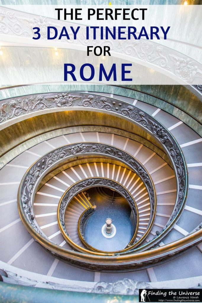 An itinerary for the perfect 3 Days in Rome. Everything from what all the highlights you need to see, to when to visit, where to stay, and tips on saving money in Rome!