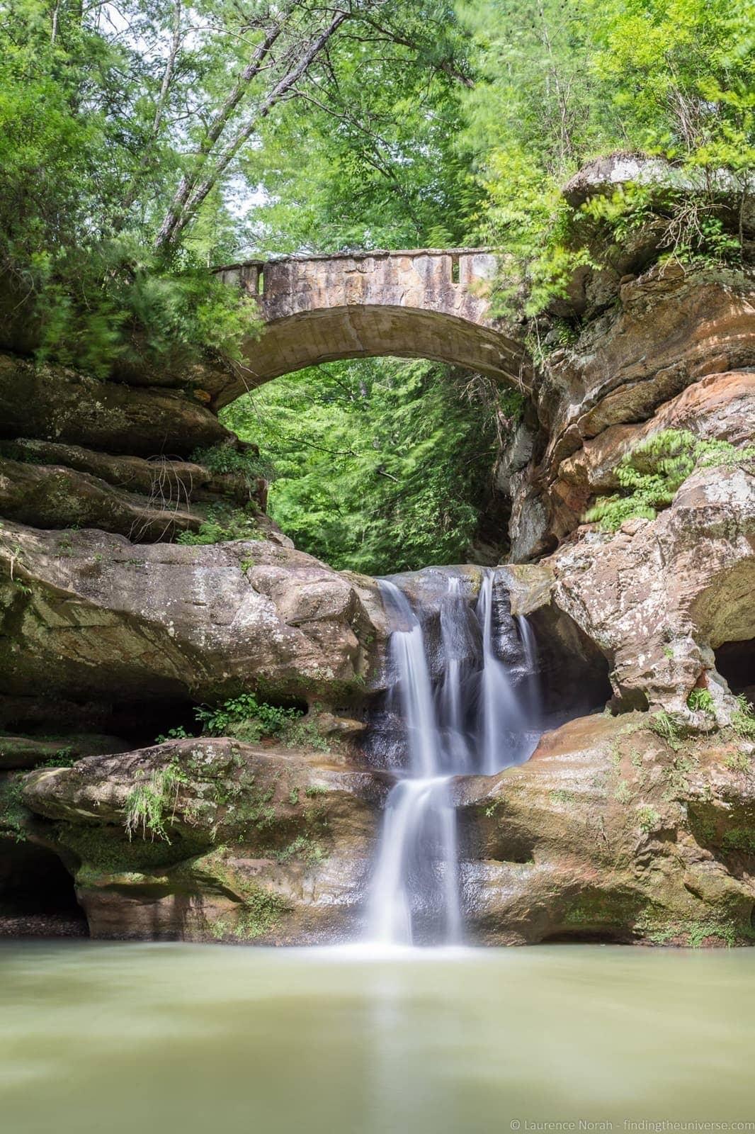 waterfalls in ohio - Upper Falls, Hocking Hills, ohio