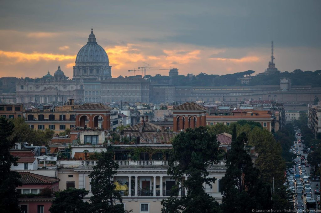 View from Villa Borghese Gardens
