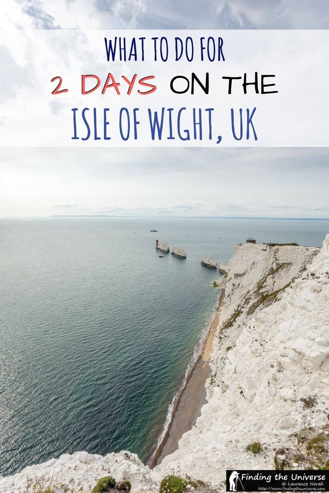 A 2 Day Isle Of Wight Itinerary covering some of the main attractions on the island as well as ideas for where to stay, how to get around and where to eat!