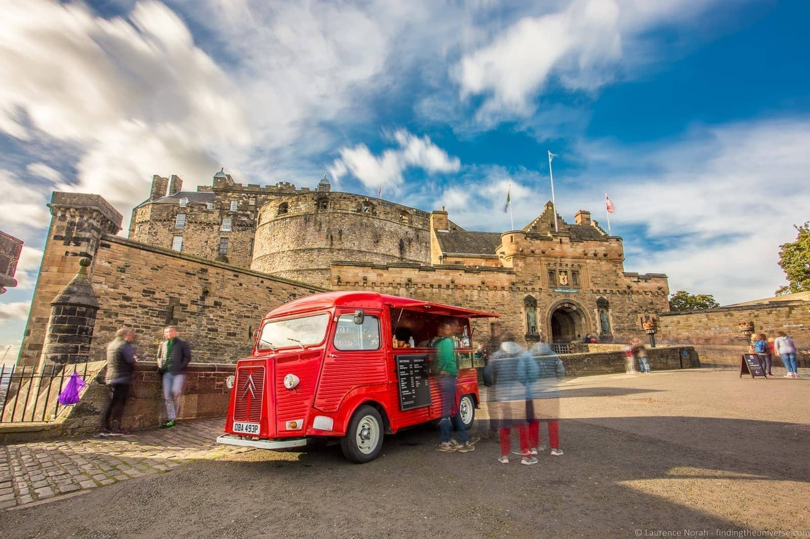 Edinburgh Castle and Van