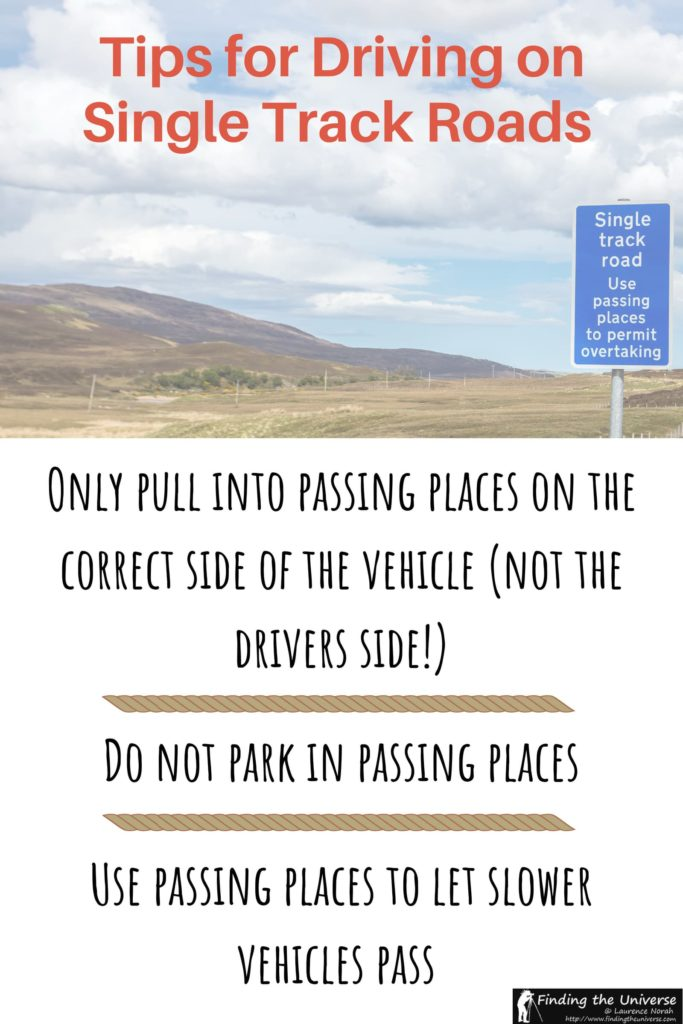 How to drive on single track roads, including tips for using passing places correctly and overtaking. Includes tips for left and right side roads, including Scotland and Iceland