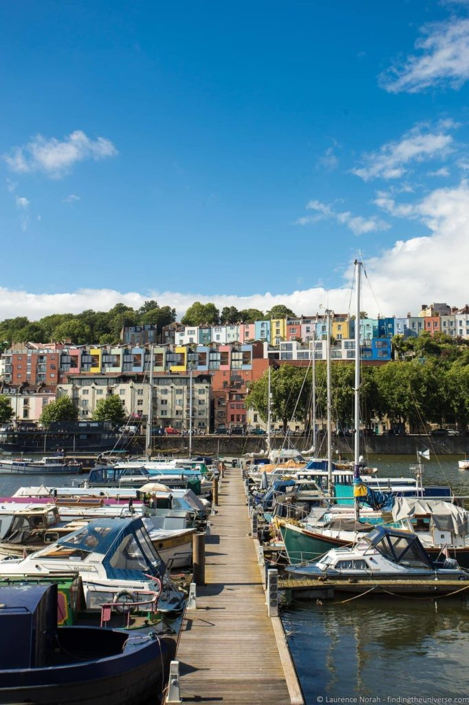 10 Day UK Itinerary - Bristol colourful houses