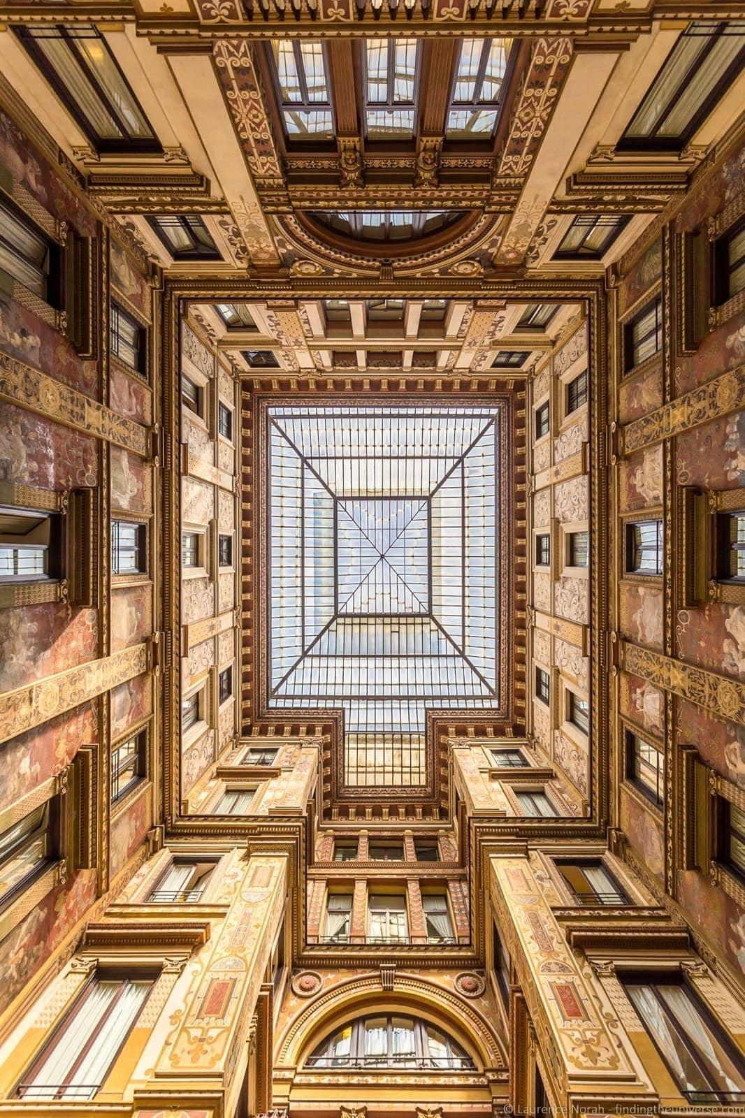Galleria Sciarria Rome interior