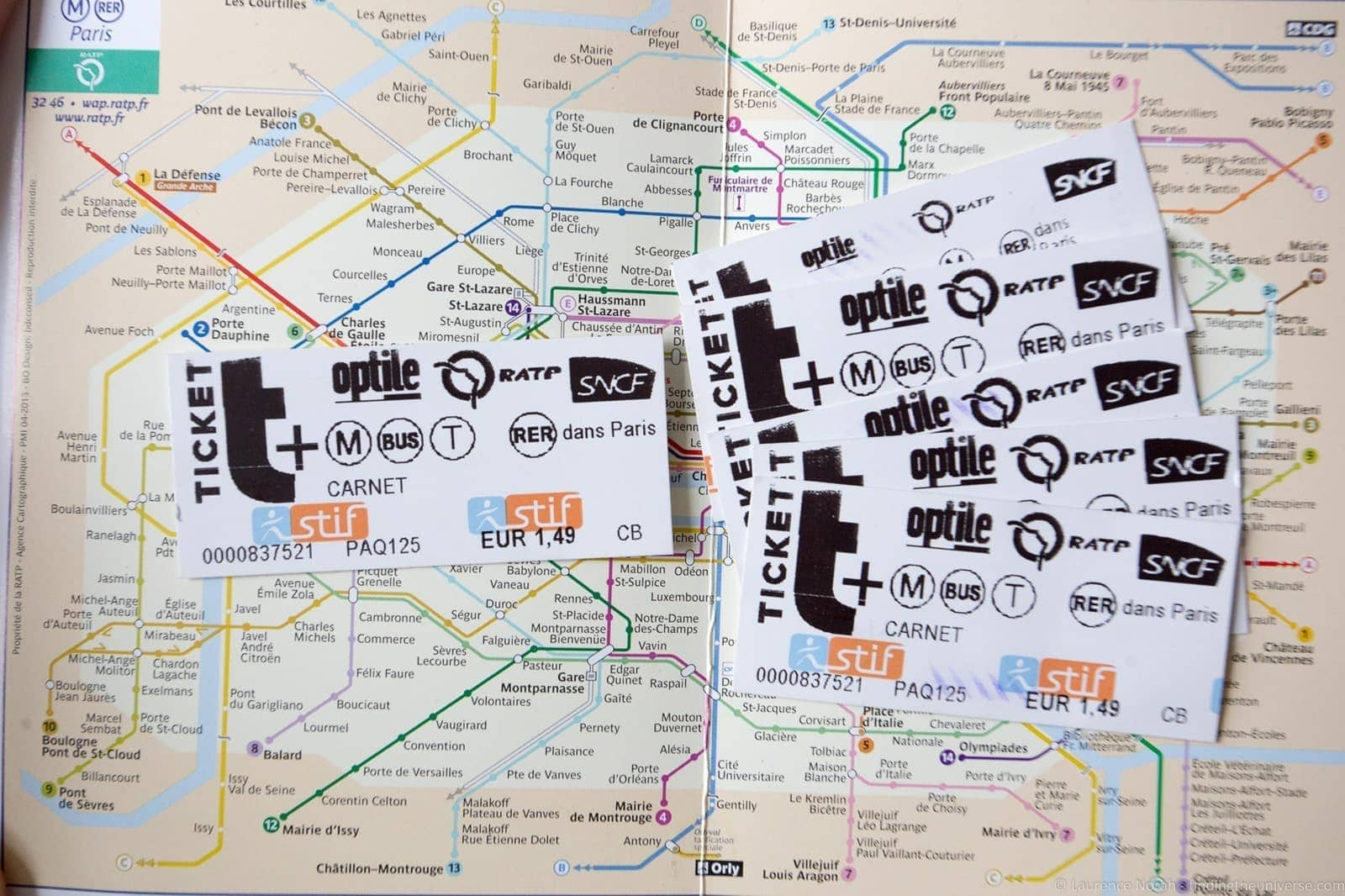 RATP cards Paris