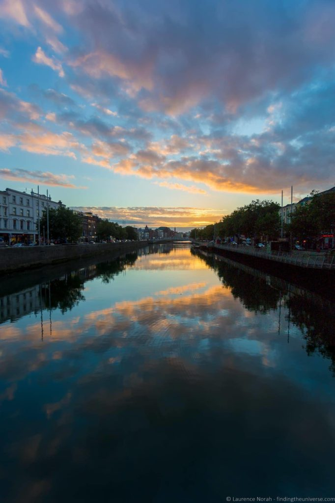 Sunset River Liffey Dublin