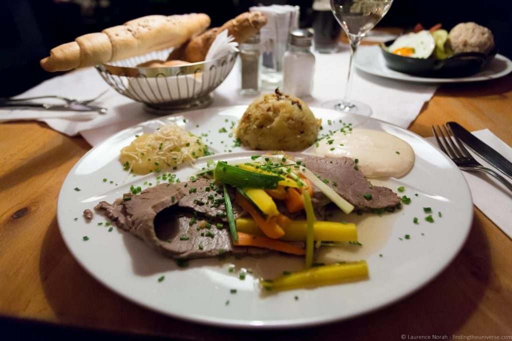 3 days in Vienna - Tafelspitz Traditional Viennese dish Vienna