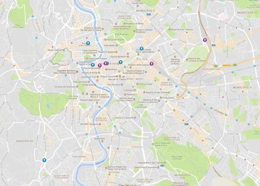 Gelato Rome Map