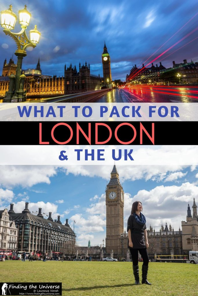 A detailed packing list for London and the UK, detailing everything you need to pack for a trip to London at any time of year, including clothing, electronics, camera gear and more! Everything you need to know to help you plan your packing for London!