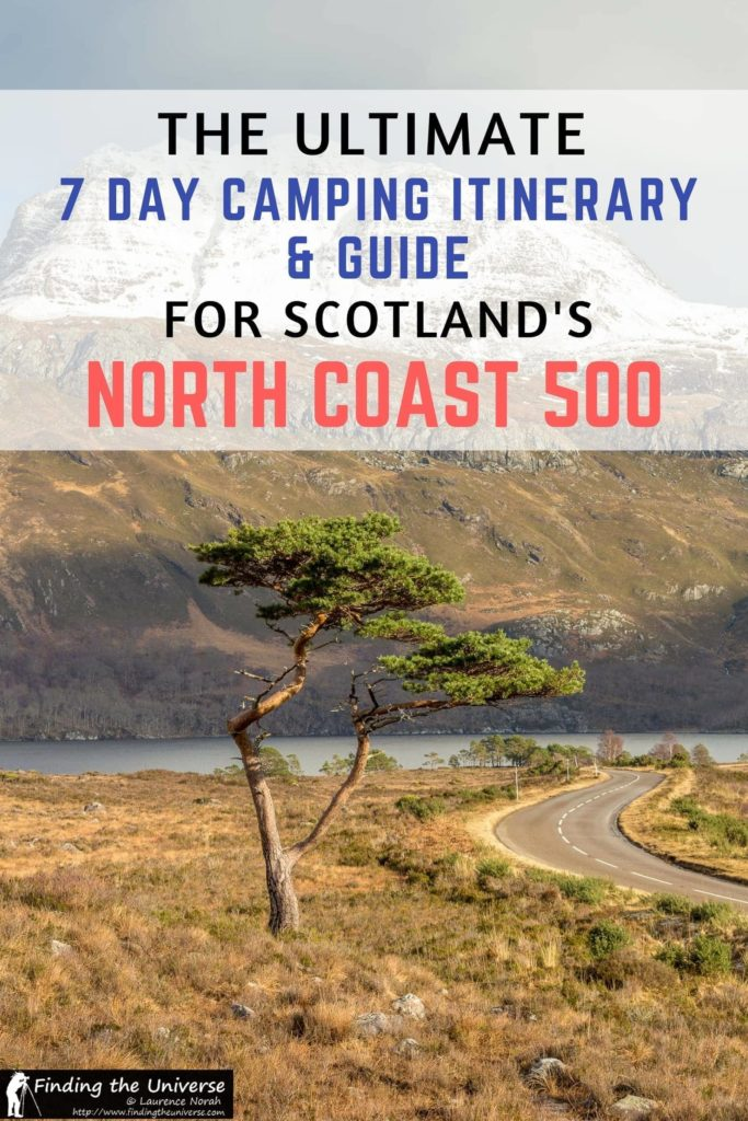 Looking to drive Scotland's North Coast 500 route? This detailed guide to camping on the North Coast 500 has a full seven day itinerary, suggestions on campsites, an NC500 route map and loads of suggestions to ensure you have an awesome road trip!