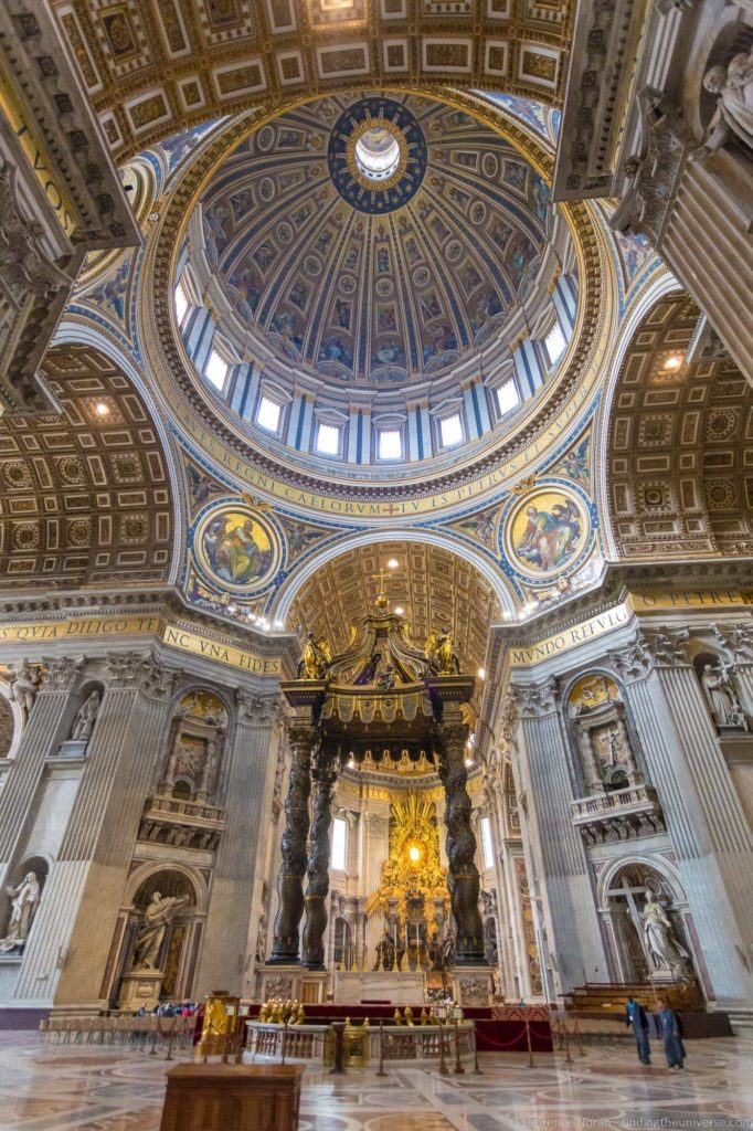 2 days in Rome - St Peters Basilica interior