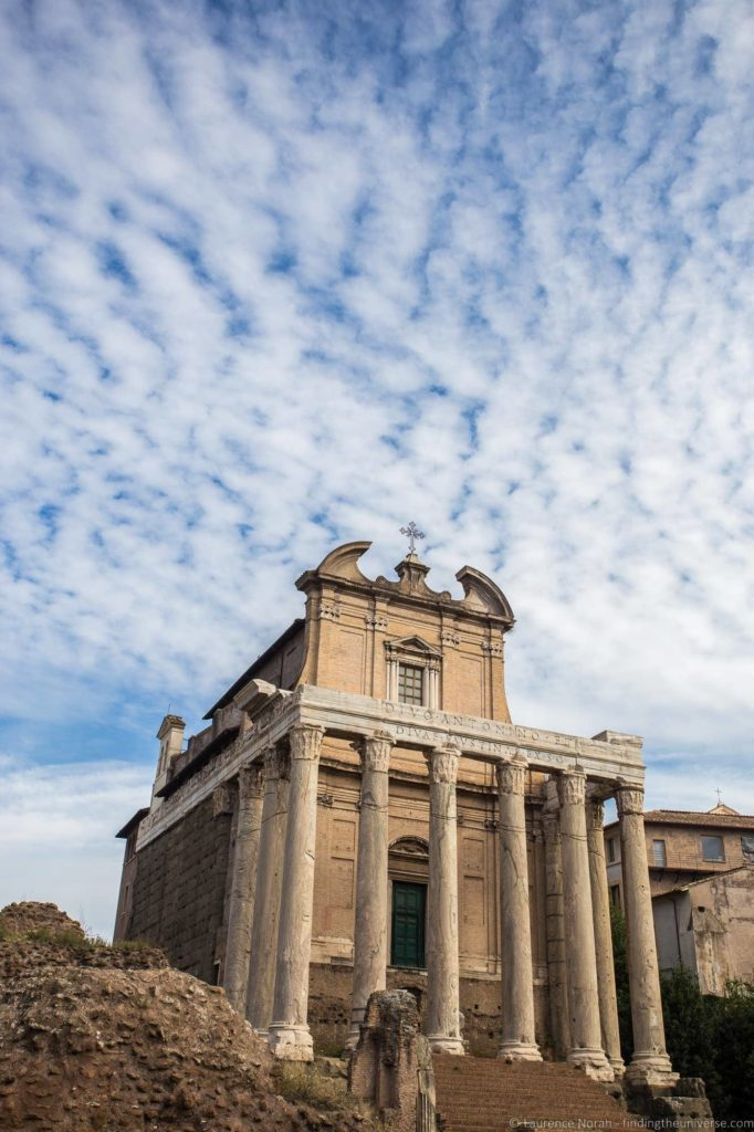 2 Days in Rome - Temple in Roman forum