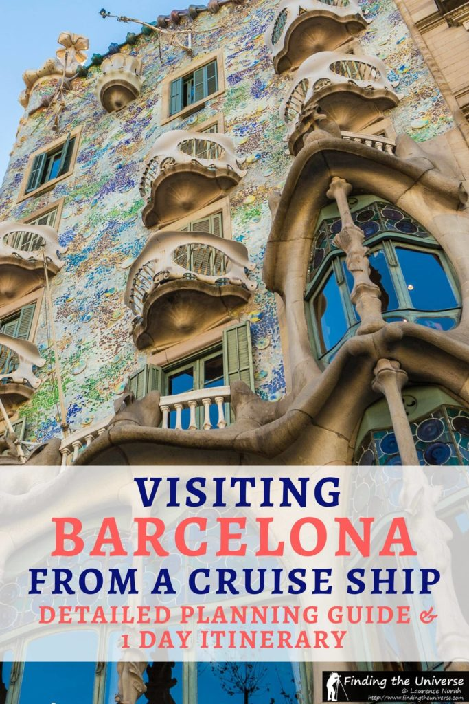 A detailed planning guide and itinerary for visiting Barcelona from a cruise ship. Includes tips on what to do in Barcelona, getting around Barcelona, and how to save money on your stay!