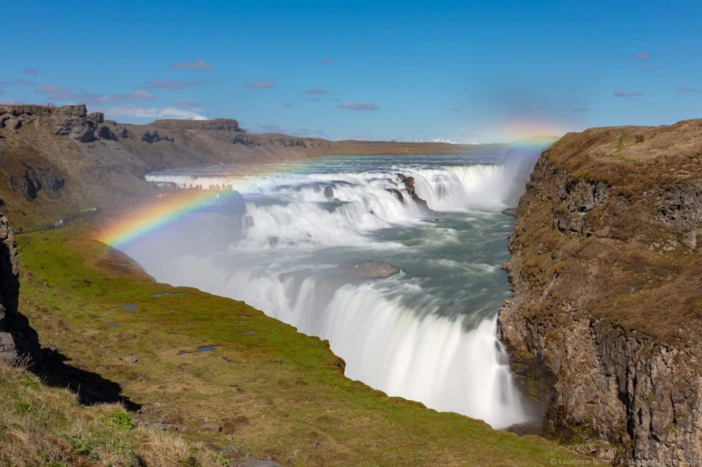 Tours of Iceland - Rainbow over Gulfoss Iceland
