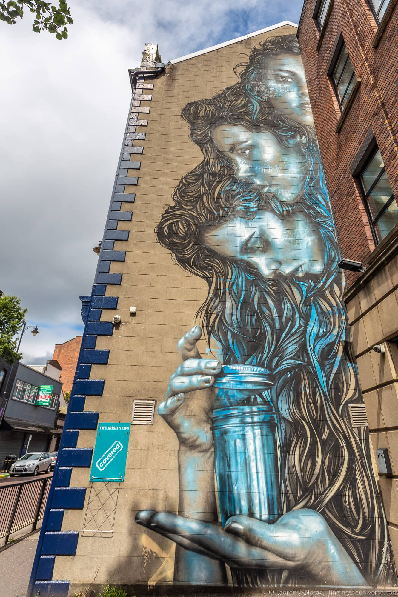Belfast Street Art Three Faces, Donegall Street – Christina Angelina