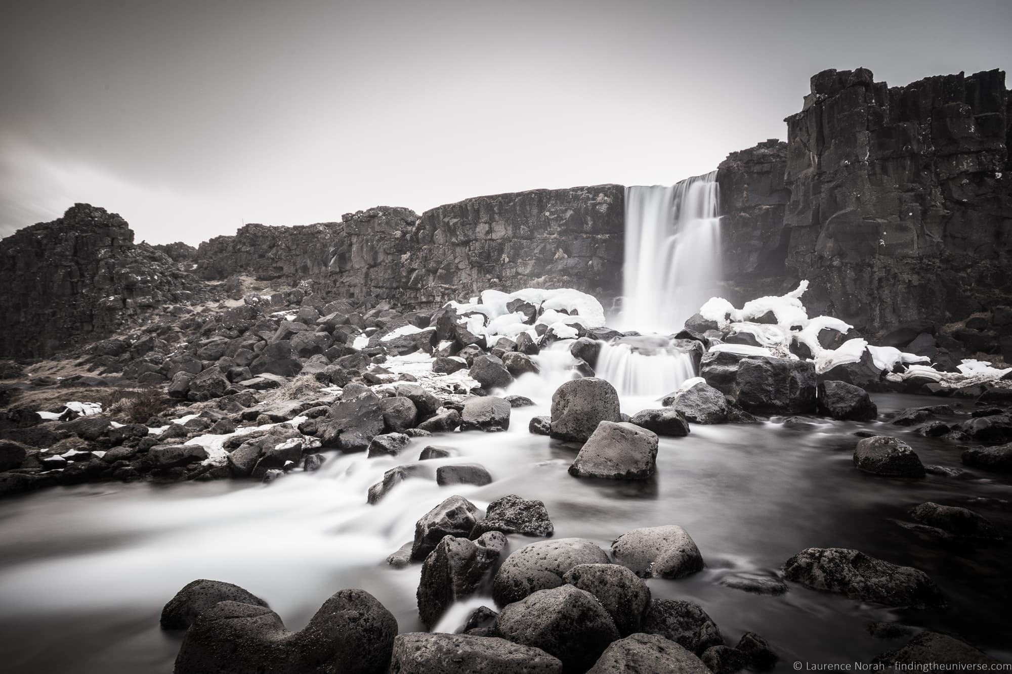Oxararfoss Watefall Þingvellir National Park Iceland