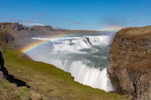 Rainbow over Gulfoss Iceland