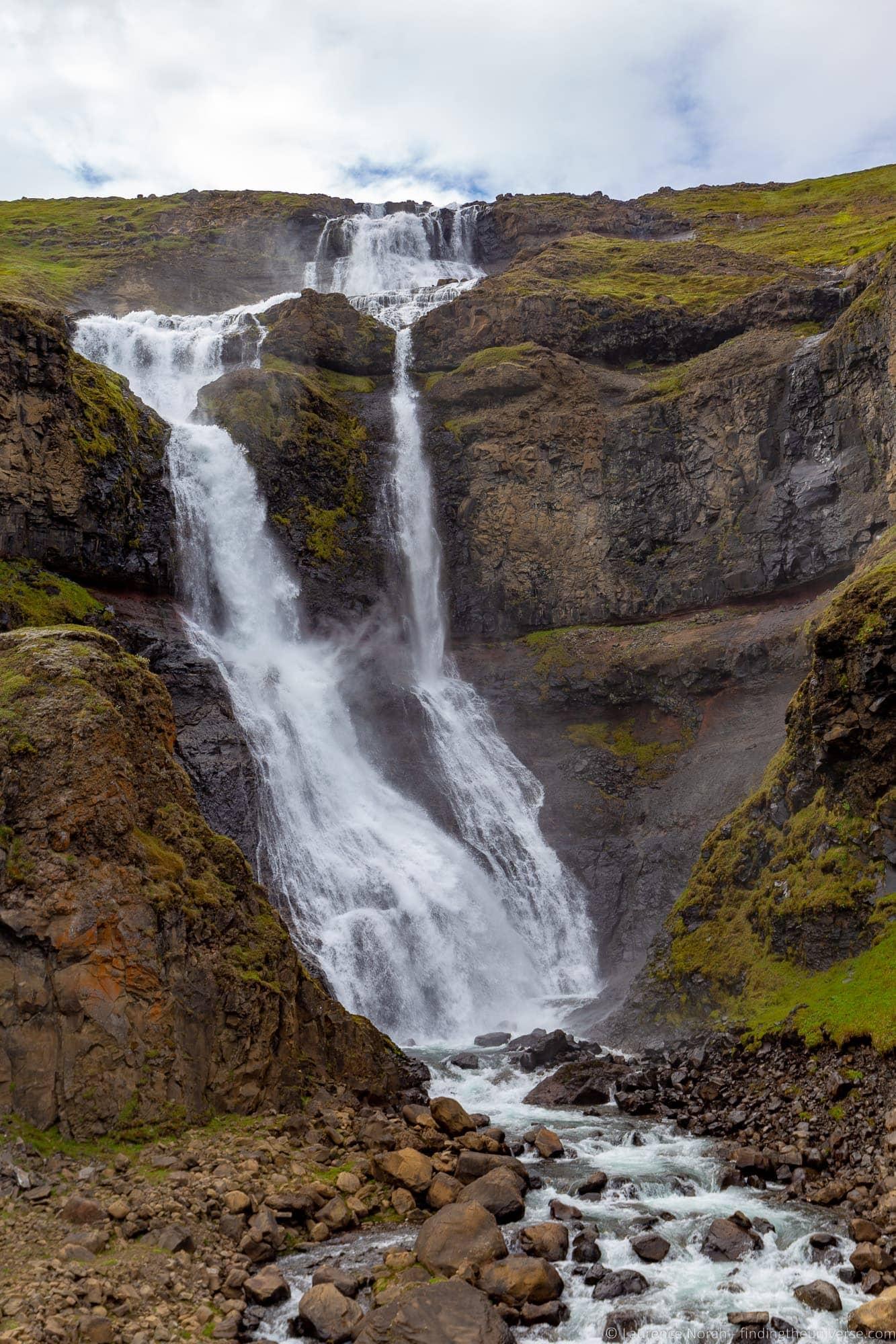 Rjukandi waterfall Iceland