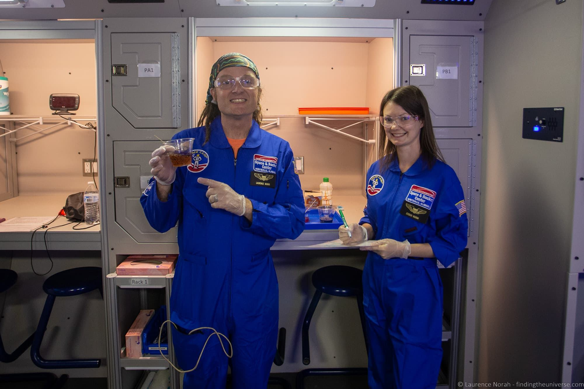 Laurence and Jess Space Camp experiments