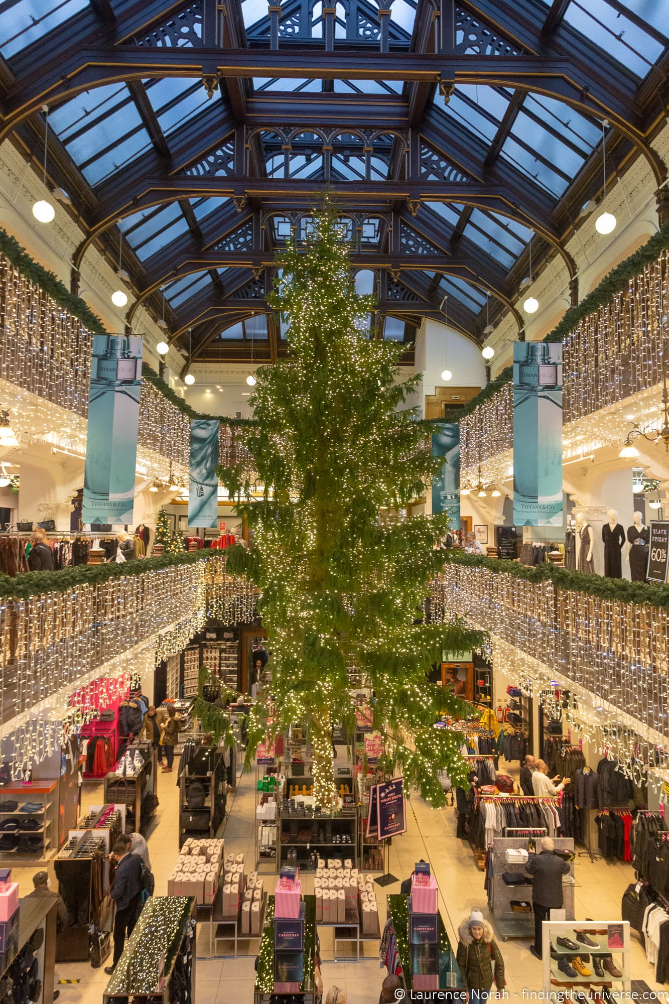 Jenners Christmas tree Edinburgh