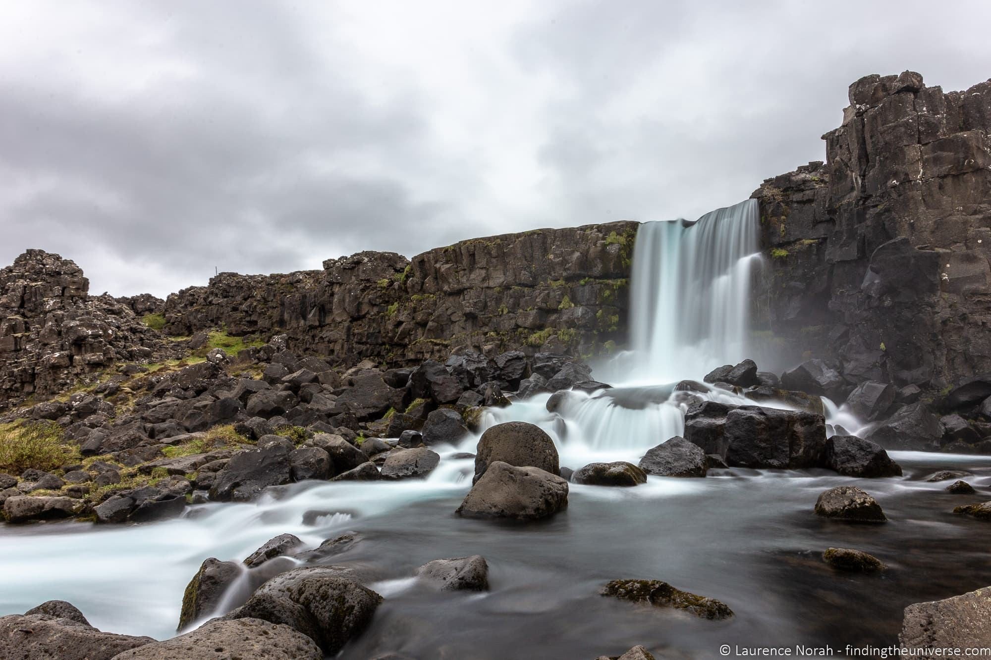 Long exposure waterfall Iceland