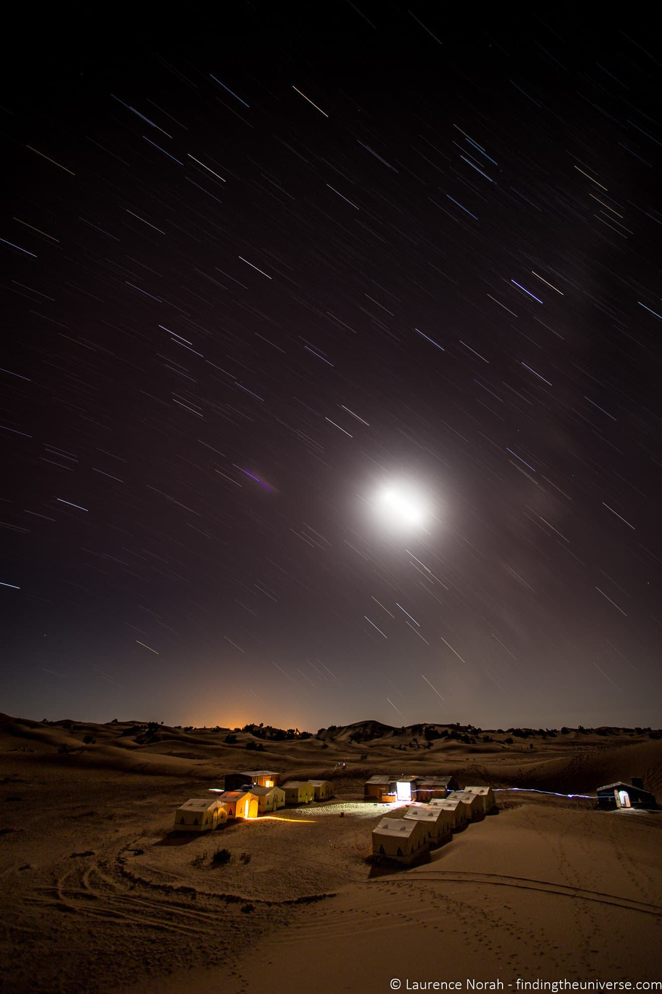 Stars in motion over Morocco