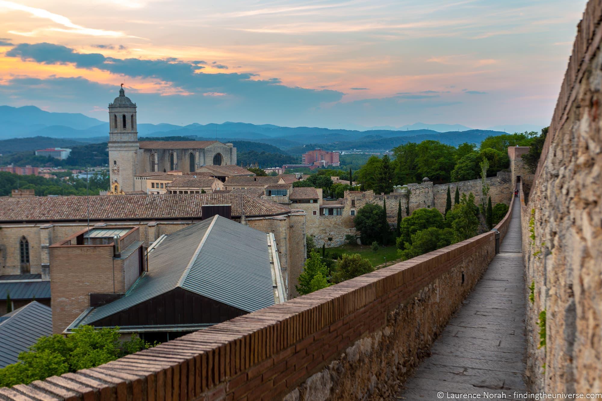 Girona medieval city walls