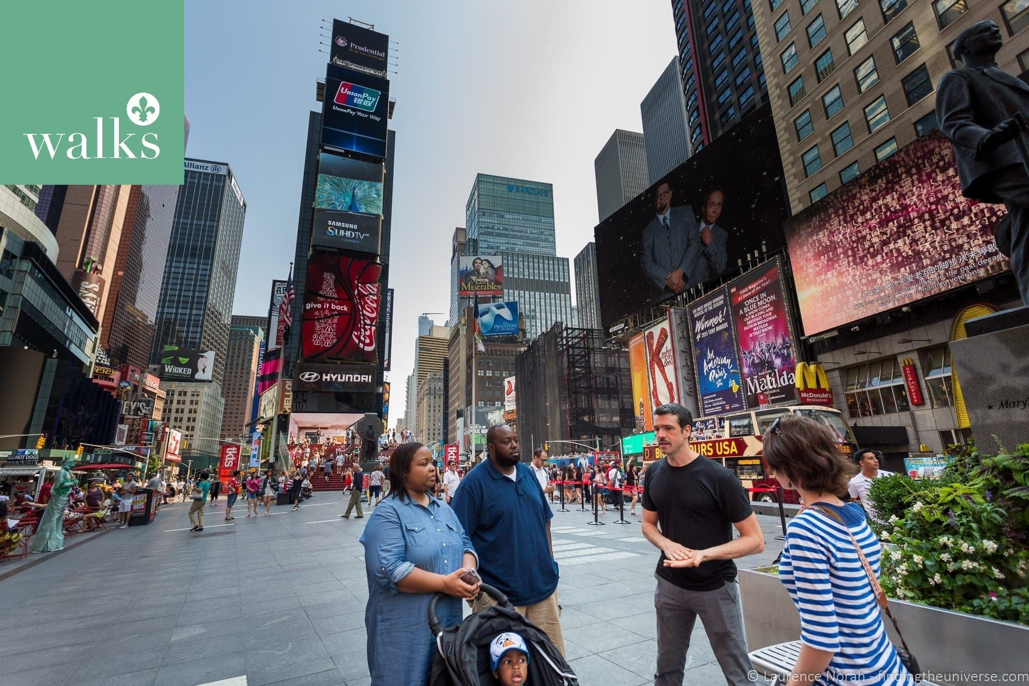 Times Square meeting point walks of new york