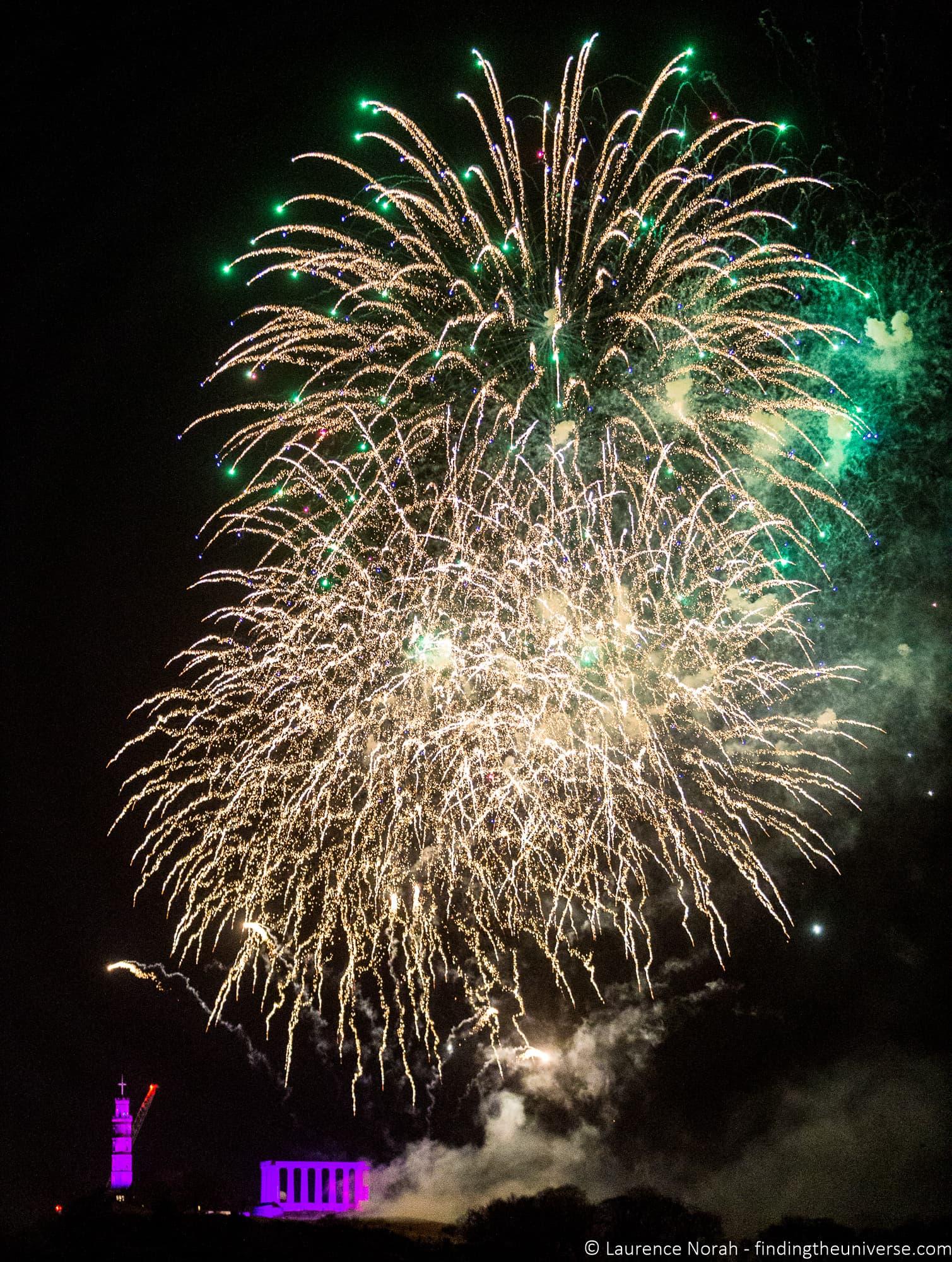 Fireworks fast exposure