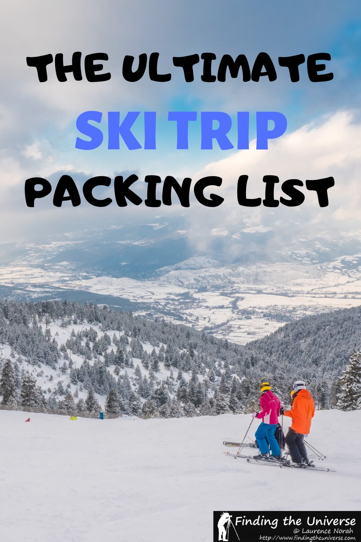 Detailed guide to what to pack for a ski trip, including skiing equipment, suggested clothes, and everything else! #travel #skiing #ski #packing #packinglist