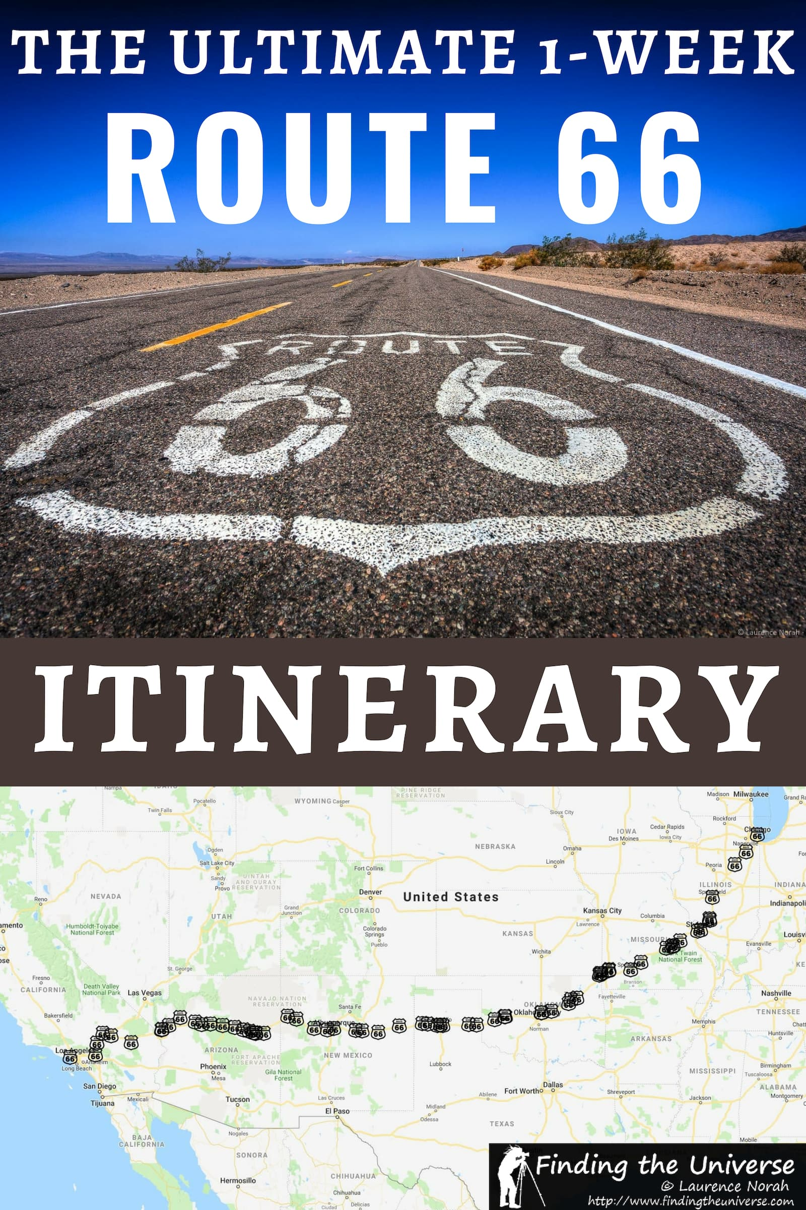 The perfect 1 Week Route 66 USA road trip itinerary. Day by day instructions for the trip, plus all the attractions, lodging options, and map of the route!