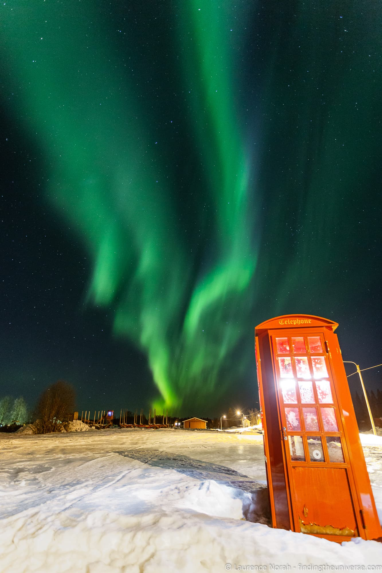 Northern Lights telephone box