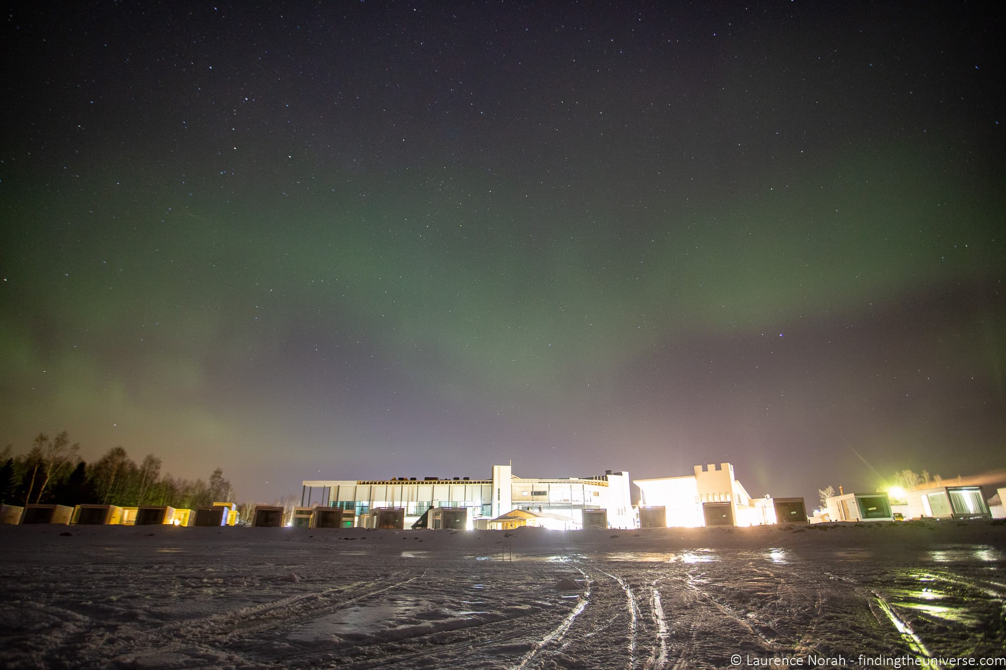 Northern Lights with Light pollution