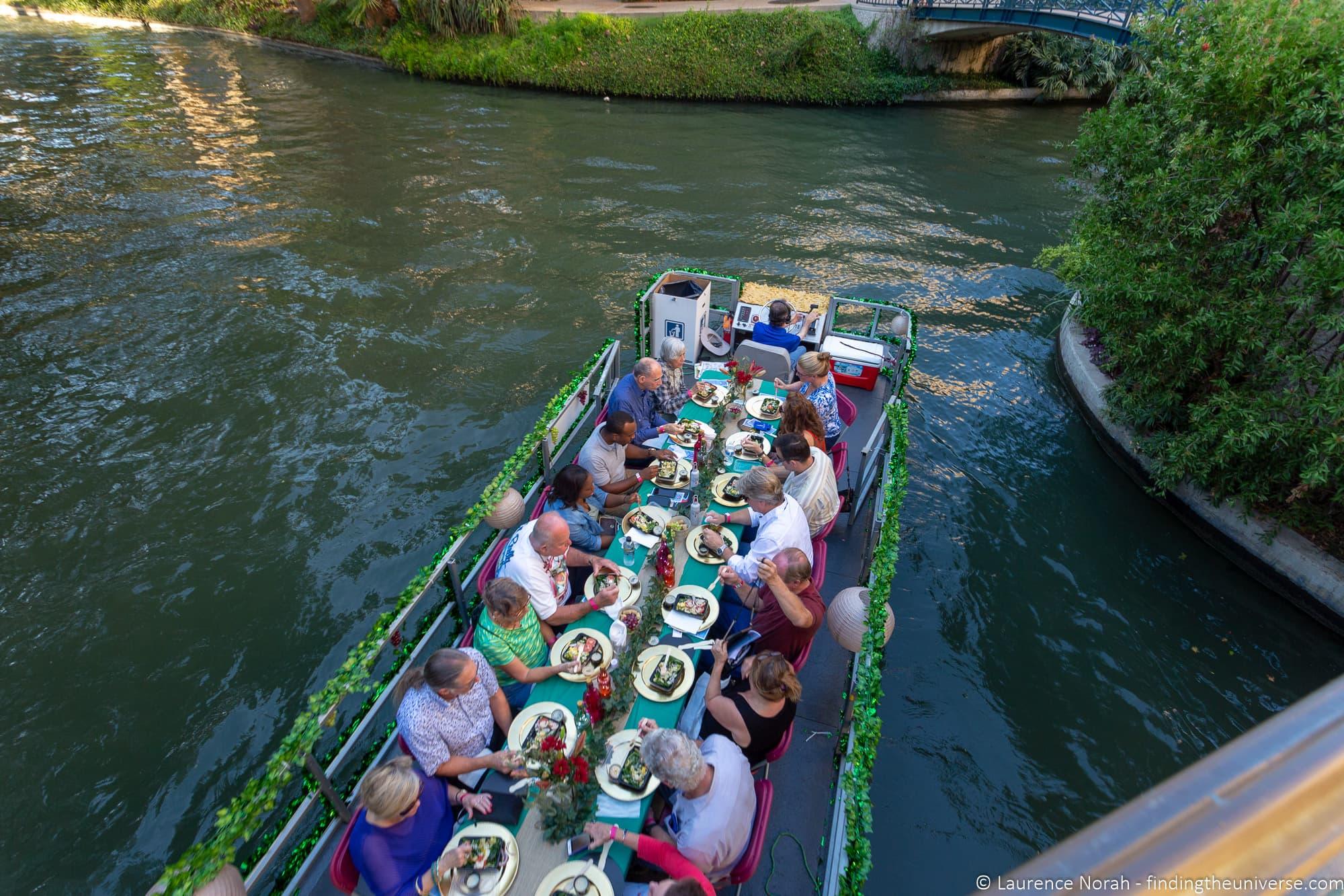 San Antonio dining barge