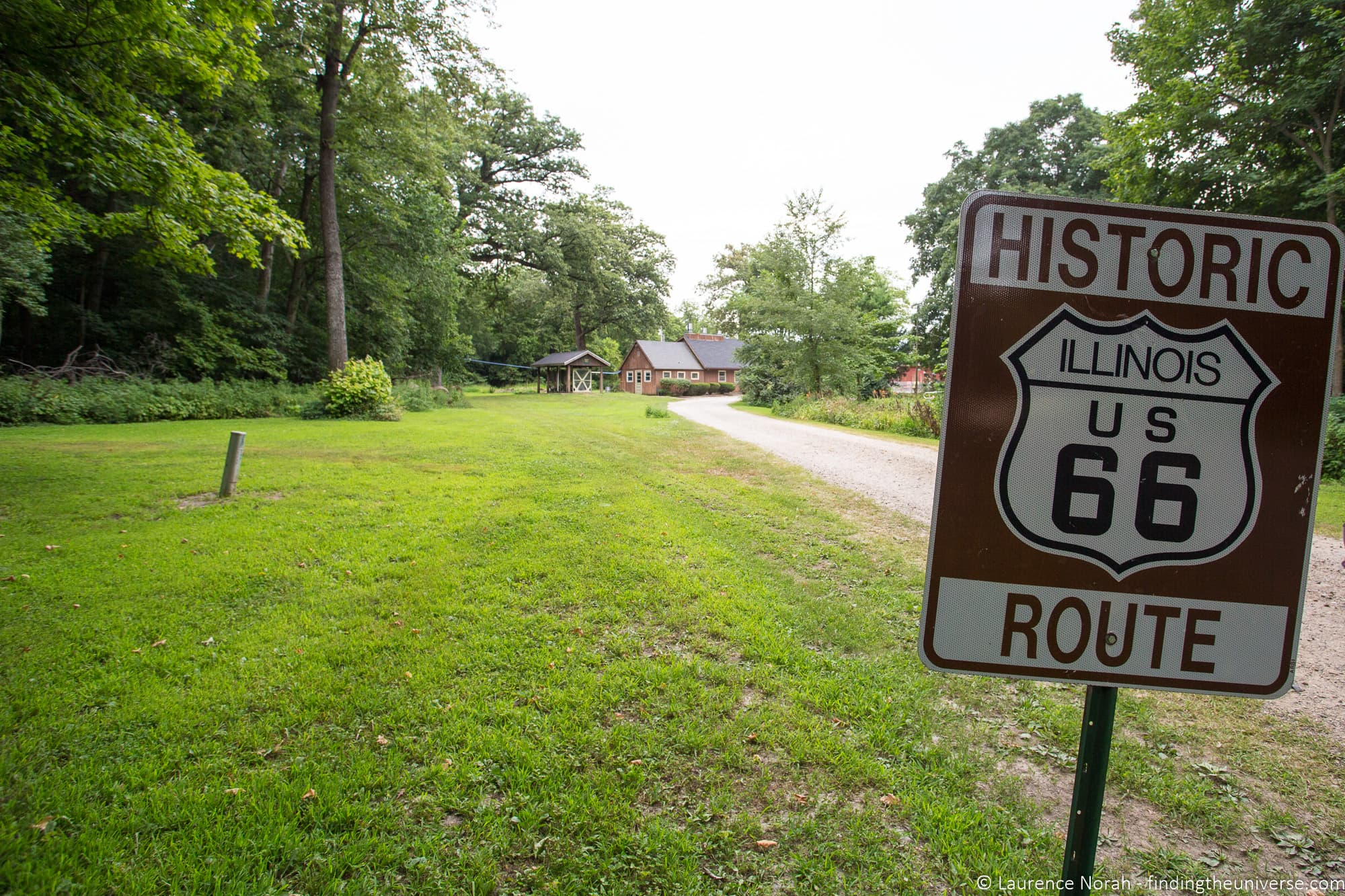 Sign Funks Grove Route 66 Illinois