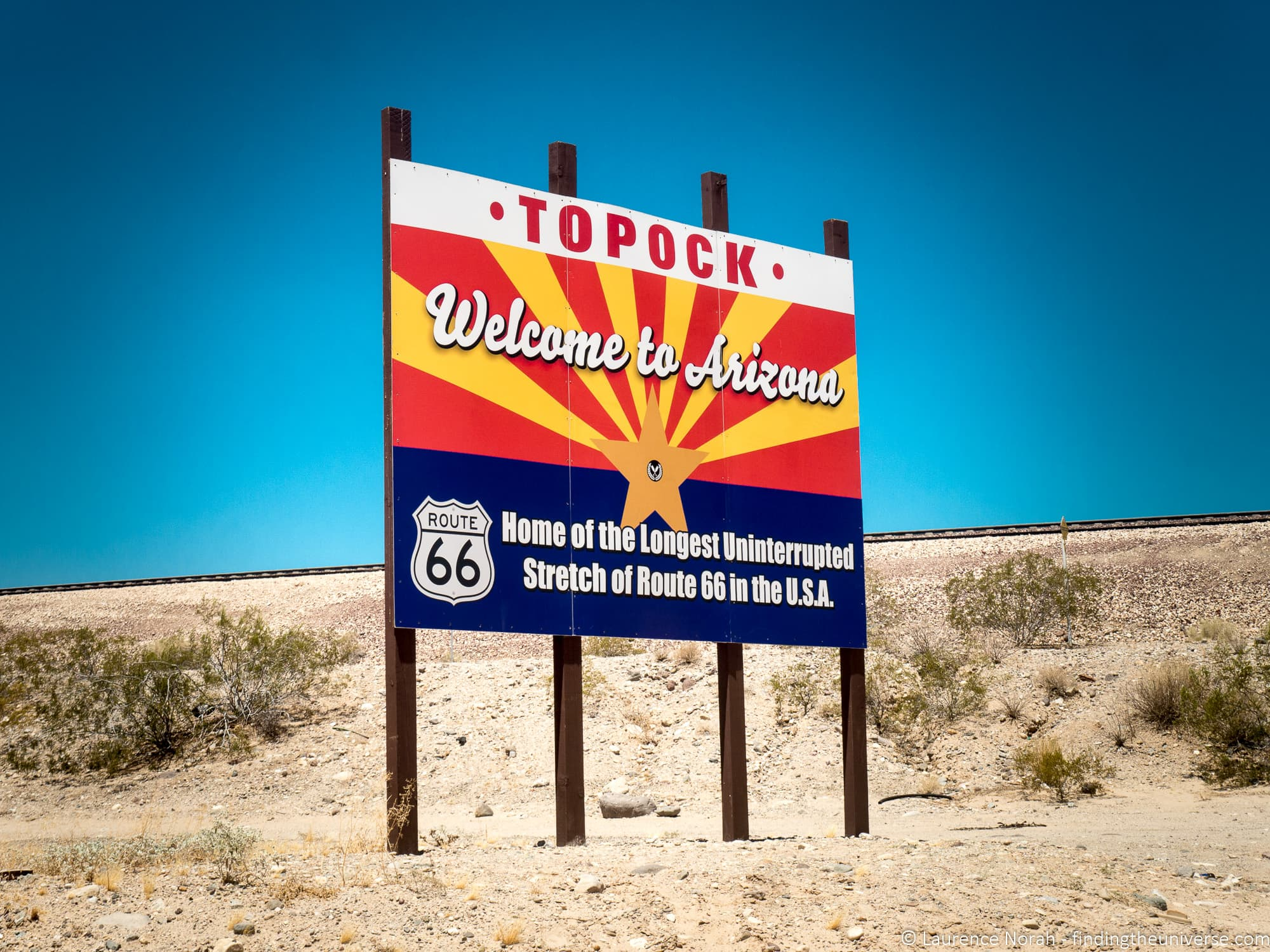 Topock sign route 66 Arizona