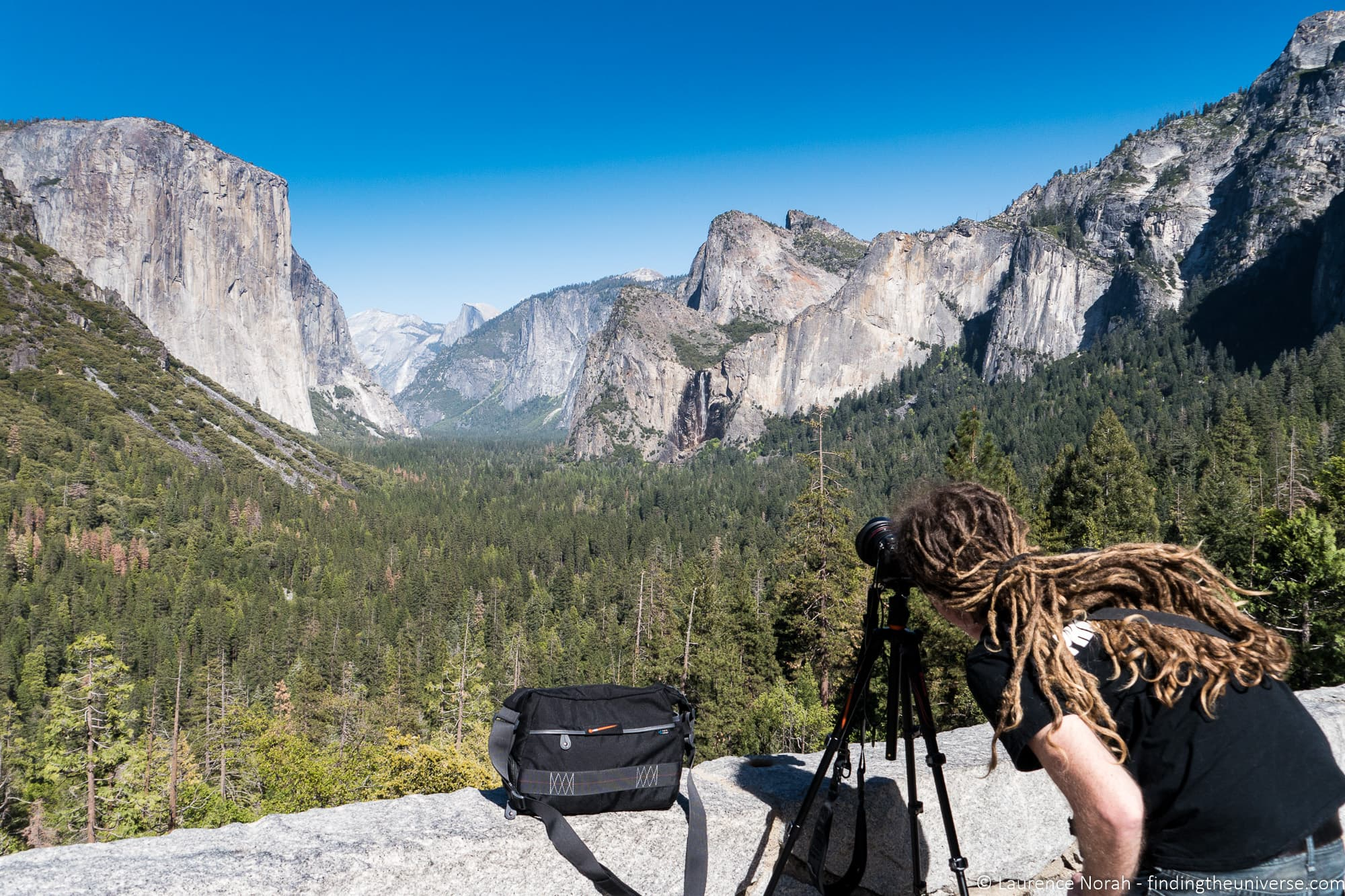 Laptop for photo editing guide - Laurence shooting Yosemite valley with tripod