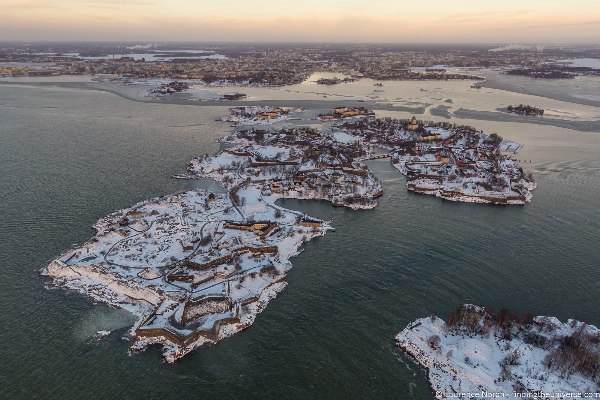 Suomenlinna Sea Fortress Aerial View