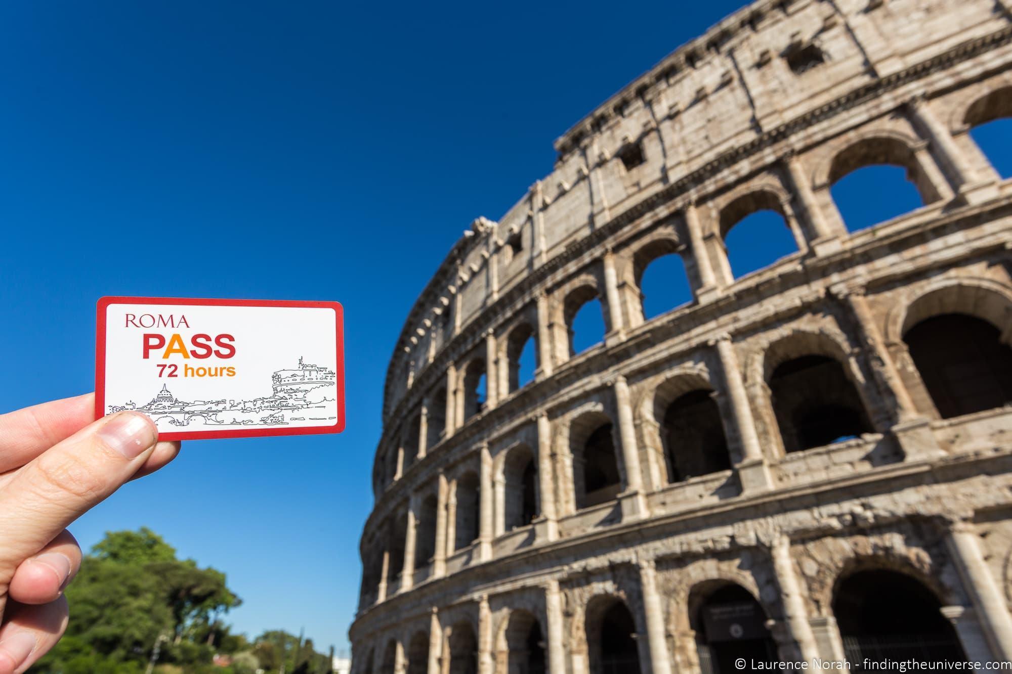 Coliseum Rome Roma Pass