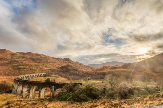 Glenfinnan Viaduct Scotland Harry Potter Train