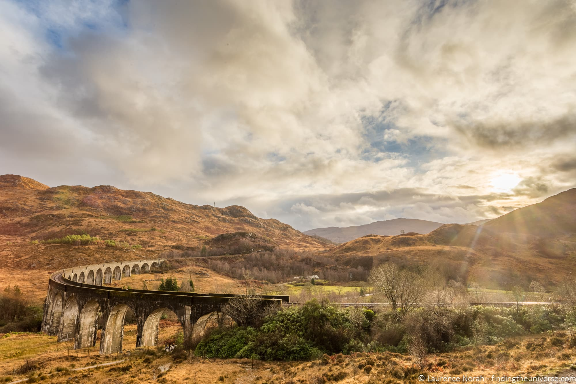 Glenfinnan Viaduct Scotland Harry Potter Train