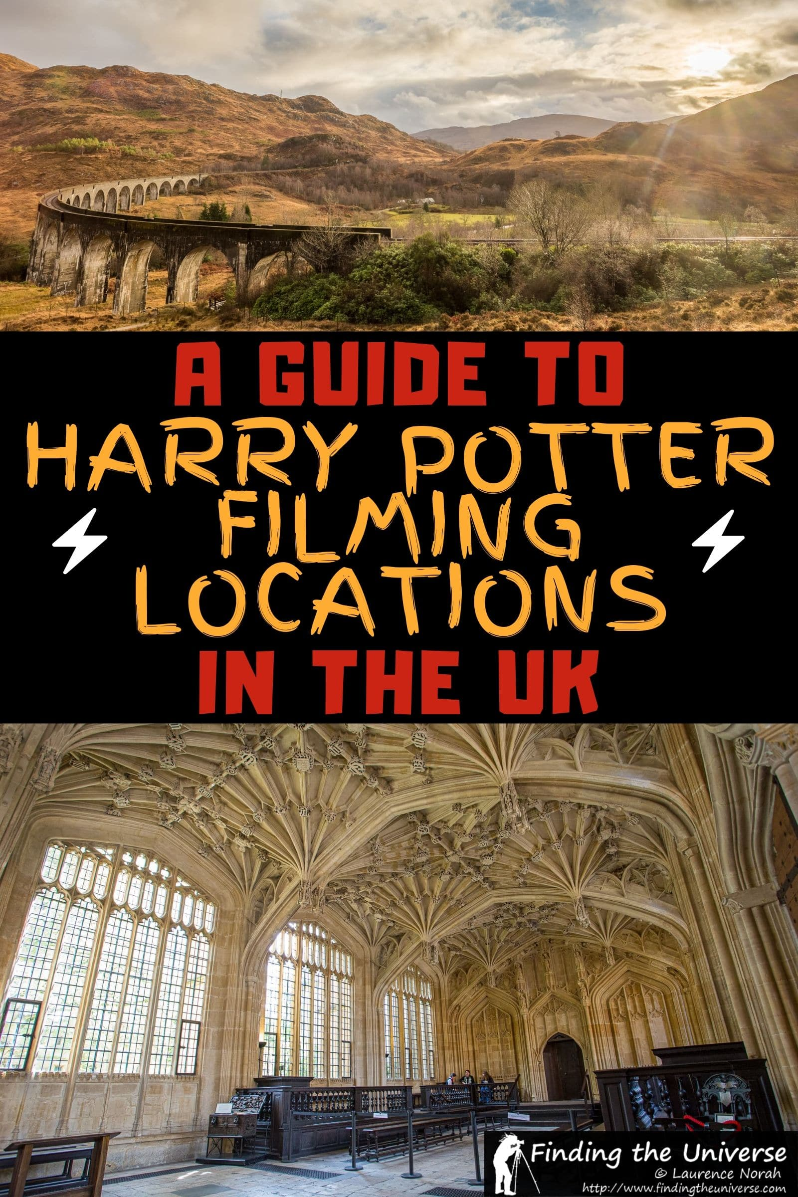 A detailed guide to the top Harry Potter filming locations in the UK, including locations for Hogwarts, Diagon Alley, Platform 9 3/4 and more!