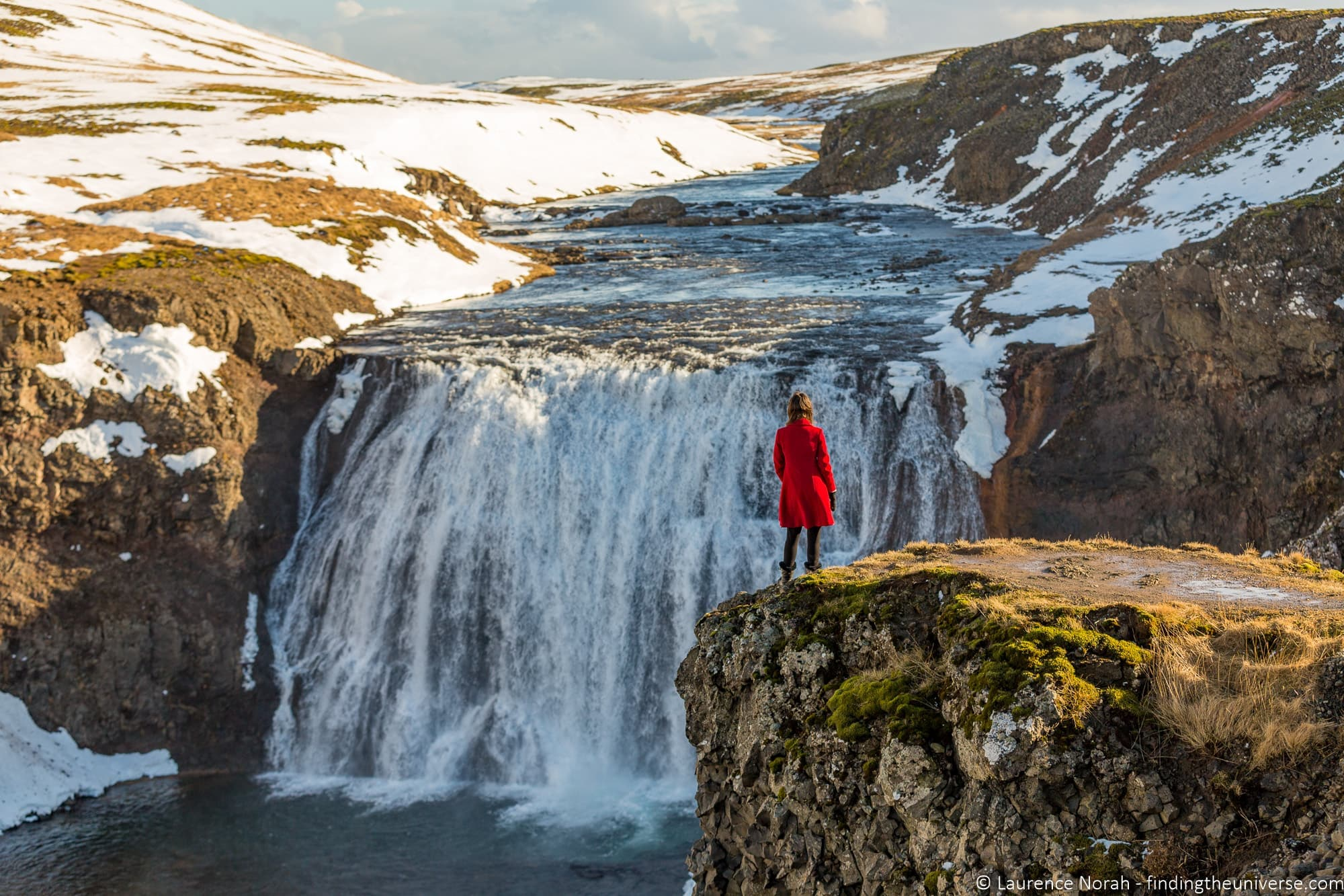 Thorufoss waterfall Iceland