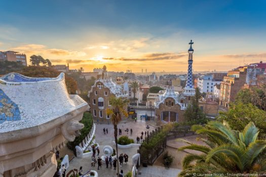 2 Week Europe Itinerary - Barcelona Parc Guell Sunrise
